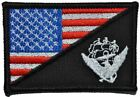 Navy USS Constitution USA Flag 2.25x3.5 Military/Morale Patch Hook Backing