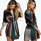 Retro Fashion Women Sexy Long Sleeve Casual Loose Mini Shift Dress S0BZ