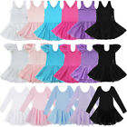 Внешний вид - Girl Gymnastics Ballerina Ballet Kid Leotard Tutu Skirt Dance Costume Dress 2-14
