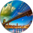Design Art 'Brooklyn Bridge with Cloud in Sky' Photographic Print on Metal