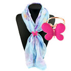 Women HOT Fashion Gold Silver Scarf Buckle Crystal Scarf Ring Silk Scarf Jewelry