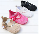 Sofe Sole Baby Girl Princess Crib Shoes Infant Floral Shoes Size Newborn to 18 M