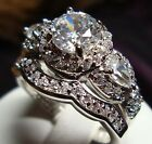 1.05 CT NEW DIAMOND ENGAGEMENT RING VINTAGE 14KT SOLID WHITE GOLD ROUND CUT