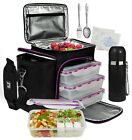 A2S Meal Prep Lunch Box - 8 Pcs - Cooler Bag 3x Portion Control Lunch Containers