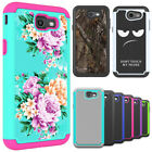 For Samsung Galaxy J7 Sky Pro Case Hard & Silicone Hybird Shockproof Phone Cover