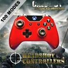 Xbox One/S Metallic Red Arbiter 5 Rapid Fire 2 Carbon Paddle Controller COD BF1