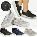 DIAMANTE TRAINERS WOMEN LADIES SHOES PUMPS SNEAKERS CASUAL LACE UP FLAT SIZE