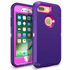 For iPhone 6S/ 7 Plus Case Cover Protective Hybrid Rugged Shockproof Rubber Hard