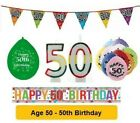 AGE 50 - Happy 50th Birthday Party Balloons, Banners & Decorations