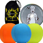 3x SMOOTHIE (UV) Pro LEATHER THUD Juggling Balls Set of 3 + Ball DVD + Bag