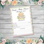 BABY SHOWER FORECAST/PREDICTION CARDS - Baby