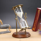 European Iron Art Rotating Sandglass Hourglass Timer Home Table Ornament Gift