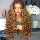 Ombre Brown Wig 4T8 Color Full Lace Front Natural Cheap Hair Wigs Brazilian Hair