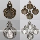 10x Tibetan Silver Leaf Teardrop Photo Picture Frame Charms Pendant Findings DIY