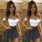 Sexy Women Short Sleeve Bodycon Casual Party Evening Cocktail Short Mini Dress