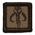 Mandalorian Star Wars - 1x1 Military/Morale/Police Patch Hook Backing $2.49 USD