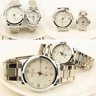 Luxury Fashion Men's Women Casual Date Stainless Steel Analog Quartz Wrist Watch