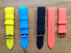 Silicone Rubber Gel Watch Strap Band 22mm Includes Spring Bars Colour Choice
