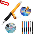 2in1 Precision Capacitive Touch Screen Stylus Pen For iPhone iPad Samsung Tablet