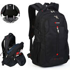 "Men's 17"" Laptop Backpack Travel School Camping Pack Waterproof Notebook Bag"