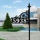 Boardwalk Reflective 911 Home Address Sign Double Sided Yard Plaque