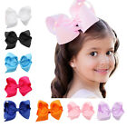 1PC Cute Big Solid Cloth Bows Hair Clips Hairpins Hair Accessories For Baby Girl