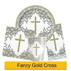 HOLY 1ST/FIRST COMMUNION Party Range SILVER & GOLD - UNIQUE RADIANT CROSS UNISEX