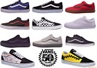 Vans Old Skool Classic Skate Shoe Black True White Red Grey