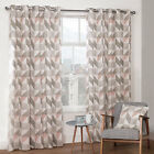 Julian Charles Delta Grey & Mauve Luxury Lined Eyelet Curtains (Pair)