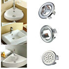 3-Style Bathroom Kitchen Sink Hole Round Overflow Cover Basin Tidy Insert Spares