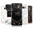 PERSONALISED ROSEGOLD MARBLE/INITIALS PHONE CASE FOR SAMSUNG GALAXY S7 EDGE