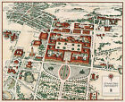 Pictorial Map of Stanford University Campus Ready to be Framed Wall Art Poster