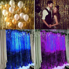 DELUXE METALLIC TINSEL DOOR CURTAIN 200cm x 100cm Room Decoration Party Shiny