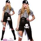 Ladies Sexy Shipwrecked Pirate Buccaneer Hen Night Fancy Dress Sizes UK 6-20