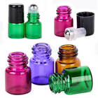 1/10/100PCS Empty Roll Metal Roller Glass Bottle for Essential Oil Perfume 1mL
