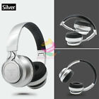 Sliver -ZH76 FM Bluetooth Headphone Stereo Headset Earphone For Call Phone Apple