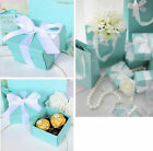 10 Blue Wedding Favour Favor Sweet Cake Gift Candy Boxes Bags Anniversary Party