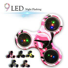 9 Led Flashing Camo Style Hand Spinner Fidget Spinner Desk Focus ADHD Toy New