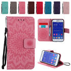 Leather Sun Embossing Flip Wallet Case Stand Cover for Samsung G360 Note 3 4 5