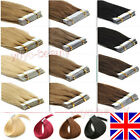 """7A PU Seamless Tape in Skin Weft Remy Human Hair Extensions16""""-24"""" UK Stock Ship"""