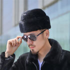 Men Real mink fur Modern warm Cap Flat hat father gift Soft Hot New Beanie Beret