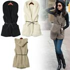 NEW FASHION WINTER WARM WOMENS LADIES HOODED FAUX FUR JACKET COAT OVERCOAT