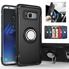 Galaxy S8 S8 Plus Case, [Ring Grip Holder] Kickstand Shockproof Protective Case