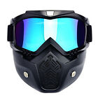 Safety Motorcycle Goggles Face Mask Protective Helmet Riding Shield Flexible