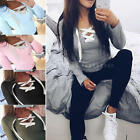 2016 Women's Lady Long Sleeve Bandage Blouse Solid Shirt Tops T-Shirt Clothes