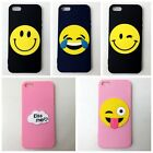 Cute Expression Face Soft Silicone Phone Case Cover Back Skin For iPhone 5/5s/SE
