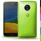 Glossy TPU Gel Case Skin for Motorola Moto G5 Bumper Soft Cover Screen Protector