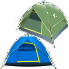 Outdoor 3-4 Person 4 Season Camping Hiking Waterproof Layer Folding Tent Pop Up