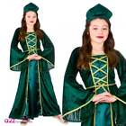 Medieval Princess Maiden Kids Girls Costume Tudor Renaissance Sizes 5-13 Years