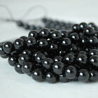 Grade A Natural Black Spinel Gemstone Round Beads - 4, 6, 8, 10mm Sizes - 16""